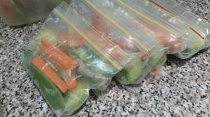 Veggie snack bags
